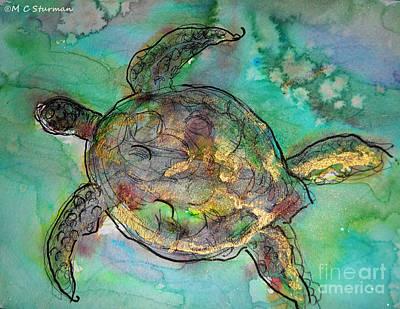 Hawaii Sea Turtle Mixed Media - Sea Turtle by M C Sturman
