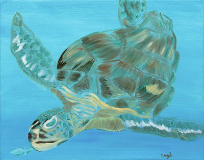Painting - Sea Turtle Ballet by Meryl Goudey