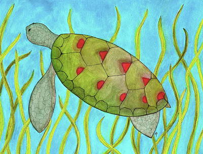 Painting - Sea Turtle by Michele Bullock