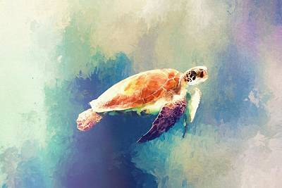 Painting - Sea Turtle by Modern Art