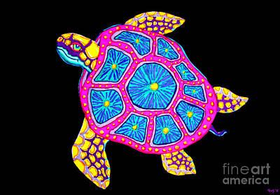 Aquatic Digital Art - Sea Turtle by Nick Gustafson