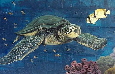Painting - Sea Turtle by Suzn Art Memorial