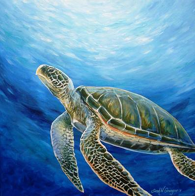 Painting - Sea Turtle by Sarah Grangier