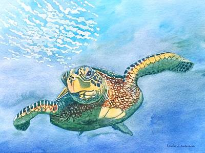 Painting - Sea Turtle Series #2 by Laurie Anderson
