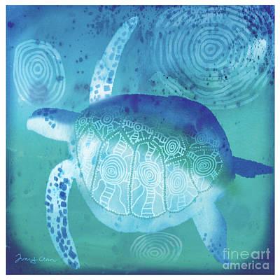 Ocean Turtle Painting - Sea Turtle by Tracy Herrmann