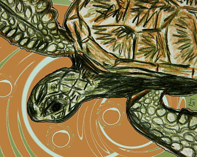 Sea Turtles Mixed Media - Sea Turtle by W Gilroy