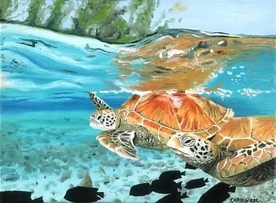 Sea Turtles Art Print by Chris Wiese