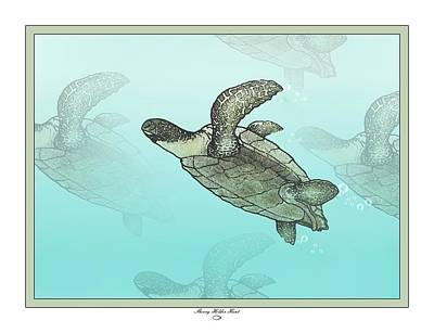 Turtle Mixed Media - Sea Turtles by Sherry Holder Hunt