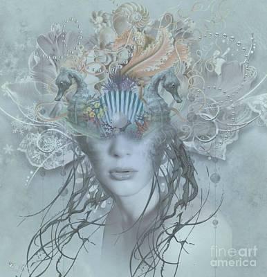 Digital Art - Sea View by Ali Oppy
