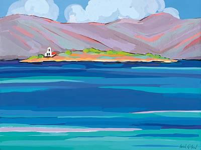Sea View Painting - Sea View Galaxidhi by Sarah Gillard