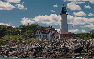Photograph - Sea View Of Portland Head Light by Paul Mangold