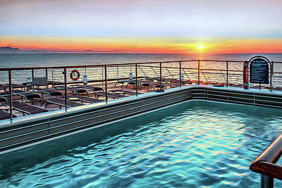Photograph - Sea View Pool by Maria Coulson