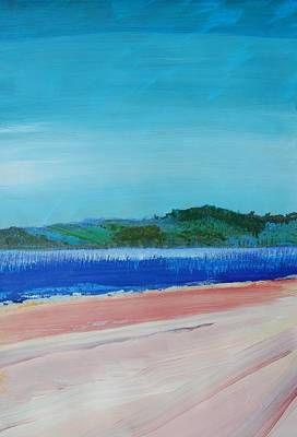 Painting - Sea View To Distant Hills by Mike Jory
