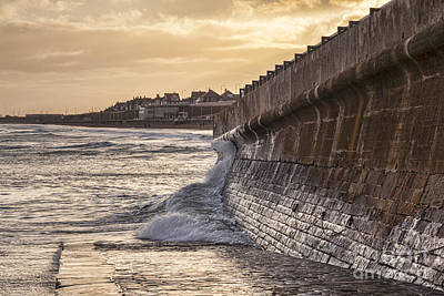 Photograph - Sea Wall Bridlington by Colin and Linda McKie