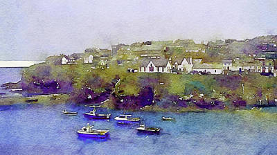 Sea Wall Of North Cornwall Art Print