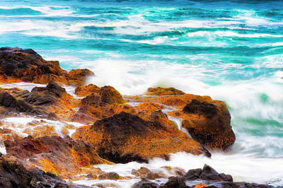 Photograph - Sea Water Flowing by Dee Browning