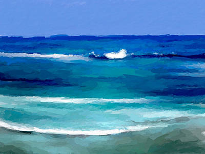 Digital Art - Sea Waves by Anthony Fishburne