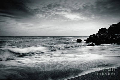 Photograph - Sea Waves On The Beach by Dimitar Hristov