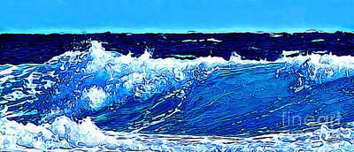 Digital Art - Sea by Zedi