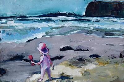 Wall Art - Mixed Media - Seababy by Jen Walls