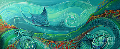 Painting - Seabed By Reina Cottier by Reina Cottier
