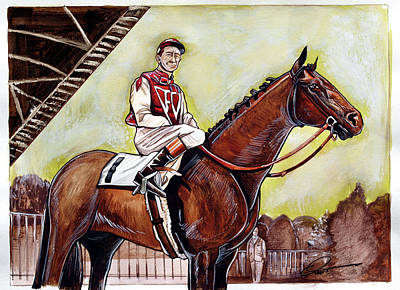 Seabiscuit Painting - Seabiscuit  by Dave Olsen