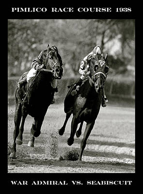 Upton Mixed Media -  Seabiscuit Vs War Admiral, Match Of The Century, Pimlico, 1938 by Thomas Pollart