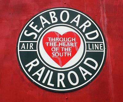 Photograph - Seaboard Air Line Rr Logo by Joseph C Hinson Photography