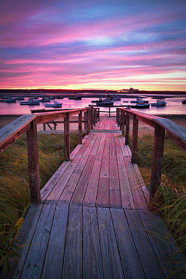Photograph - Seabrook Harbor Sunset by Eric Gendron
