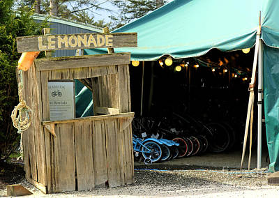 Photograph - Seabrook Lemonade And Bikes by Chris Anderson