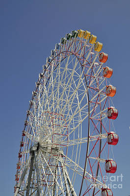 Japan Town Photograph - Seacle Rinku Pleasure Town Ferris Wheel by Andy Smy
