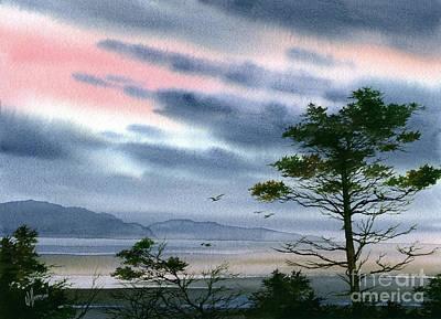 San Juan Painting - Seacoast Winter Sunset by James Williamson