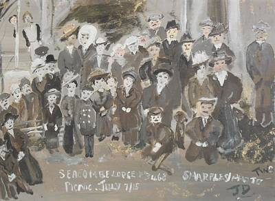 Art Print featuring the painting Seacombe Picnic by Judith Desrosiers