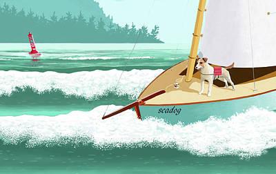 Seadog Art Print
