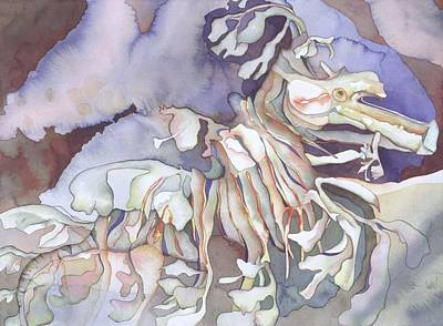 Bekman Wall Art - Painting - Seadragon Fantasy II by Liduine Bekman