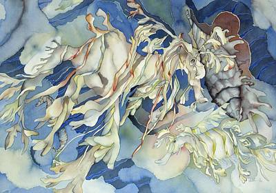 Sea Dragon Painting - Seadragon Fantasy by Liduine Bekman