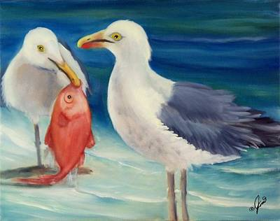 Painting - Seafood For Two by Joni McPherson