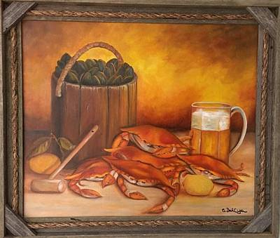 Painting - Seafood Night by Susan Dehlinger