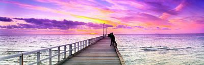 Mauve Photograph - Seaforth Silhouettes by Sean Davey