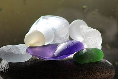 Vetro Photograph - Seaglass by Judy Bernier