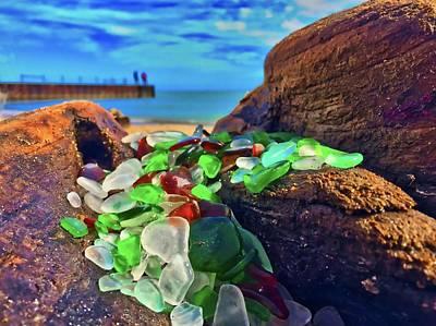 Beachglass Photograph - Seaglass by Louis Perlia