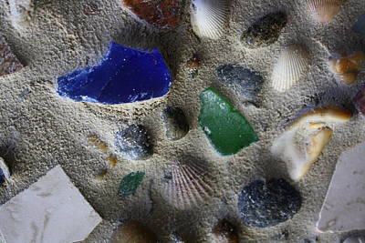 Northeast Mixed Media - Seaglass Shells Rocks by Anne Babineau