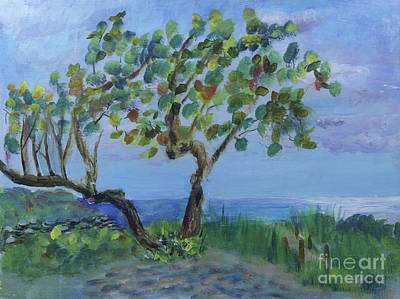 Painting - Seagrapes At Boca Inlet Beach by Donna Walsh