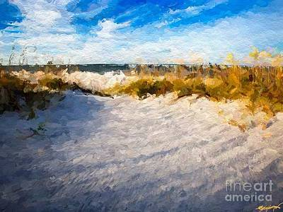 Sea Grass Digital Art - Seagrass Breeze by Anthony Fishburne