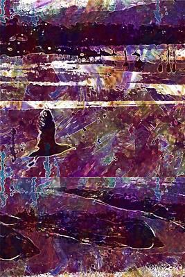 Digital Art - Seagull Beach Bird Sand Beach Sea  by PixBreak Art