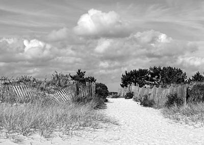 Photograph - Seagull Beach Entrance B-w by Lori Pessin Lafargue