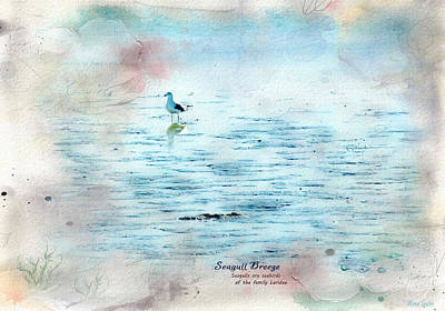 Photograph - Seagull Breeze by Anna Louise