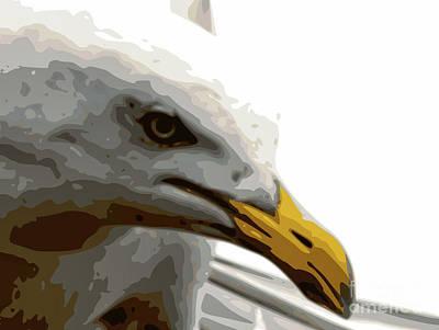 Seagull Closeup Art Print