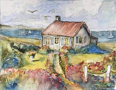 Painting - Seagull Cottage by P Maure Bausch