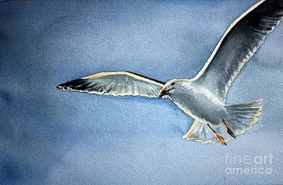 Art Print featuring the painting Seagull by Eleonora Perlic